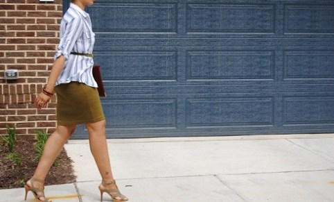 What I'm Wearing: Ponte Knit Skirt
