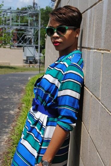 What I'm Wearing: Striped Shirtdress