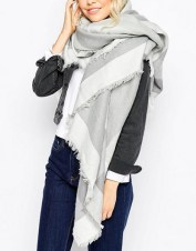 Liquorish Oversized Blanket Wrap Check Scarf, $40, asos.com