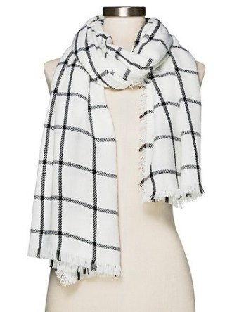 Women's Cozy Plaid Blanket Scarf, $16.99, target.com