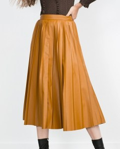 Pleated Midi Skirt, $69.90, zara.com