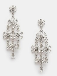 ASOS Crystal Flower Statement Earrings, $26, asos.com