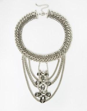 ASOS Statement Chain Bib Necklace, $35, asos.com