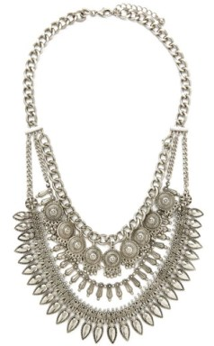 Etched Charms Statement Necklace, $16.90, forever21.com