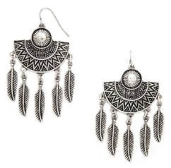 Feather Drop Earrings, $4.90, forever21.com