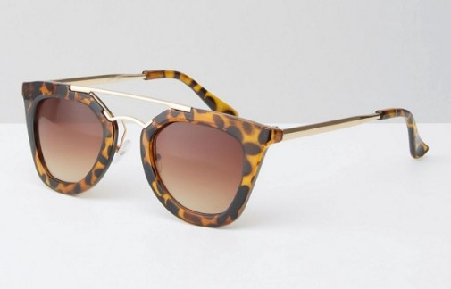 Jeepers Peepers Tortoiseshell Sunglasses with Brow Bar, $30, asos.com