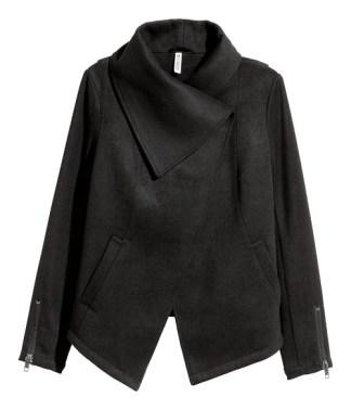 Draped Jacket, $70, hm.com