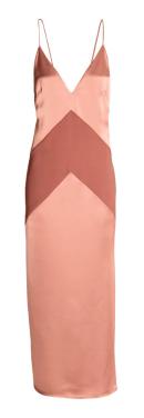 Long Satin Dress, $25, hm.com