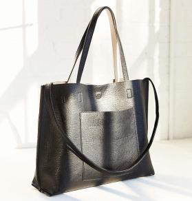 Reversible Vegan Leather Tote Bag, $60, urbanoutfitters.com