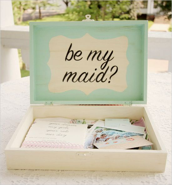 Bridesmaid keepsake box