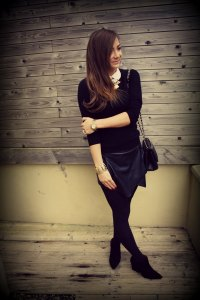 Outfit Diaries: Black Leather Skort