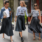 Three Ways To Wear...One Pleated Skirt