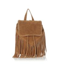 Warehouse Suede Mini Tassled Backpack