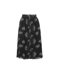Space-Dye Flower Midi Skirt by Topshop Archive