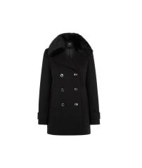 Oasis Fur Collar Pea Coat, £90