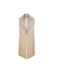 River Island Faux Fur Knitted Gilet, £50