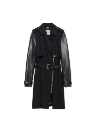 Zara Faux Leather Sleeves Trench Coat, £69.99