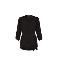 Black D-Ring Belted Shirt, £17.99