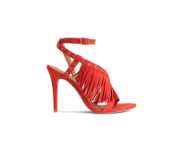 H&M Coral Fringed Heels