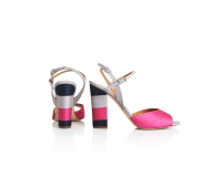 Topshop RAM Striped Sandals