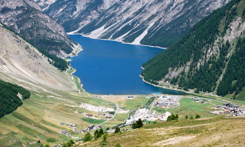 Livigno lake mountain