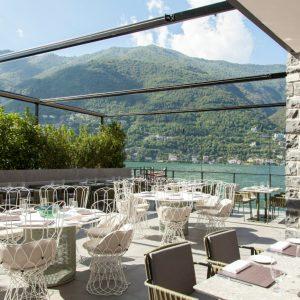 Il Sereno design hotel di lusso sul Lago di Como ristorante esterno - thestylelovers.com