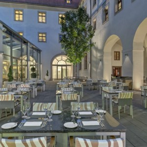 Praga Augustine hotel restaurant terrace - The Style Lovers