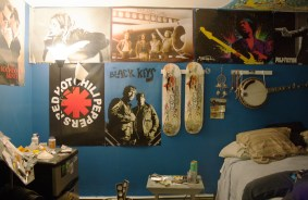 Each item on my wall comes from some experience that has made an impression on me. My room tells my story of who I am, where I've been and what I'm in to.