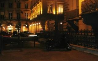 Paris at night.