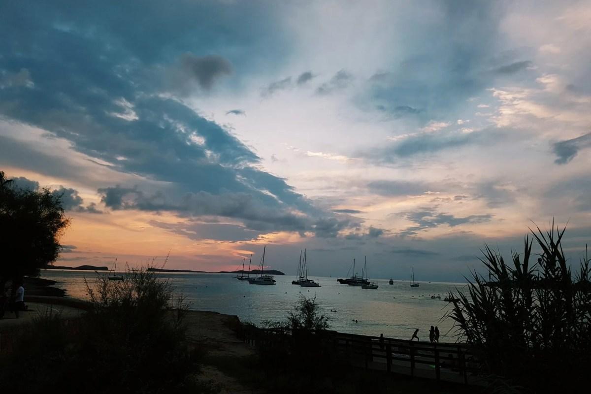 Ibiza sunset san antonio bay