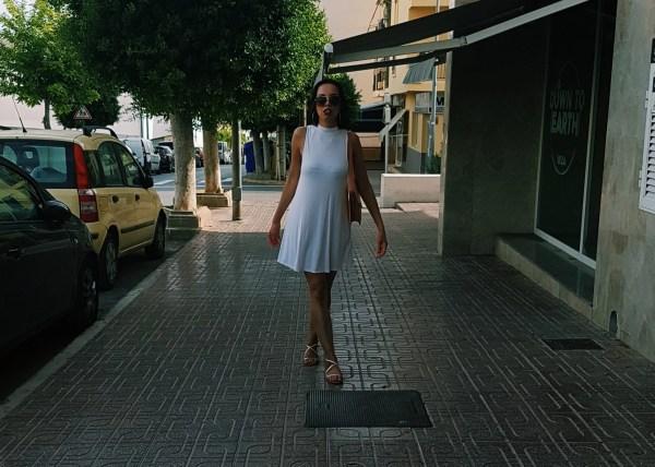 Women wearing white dress Ibiza