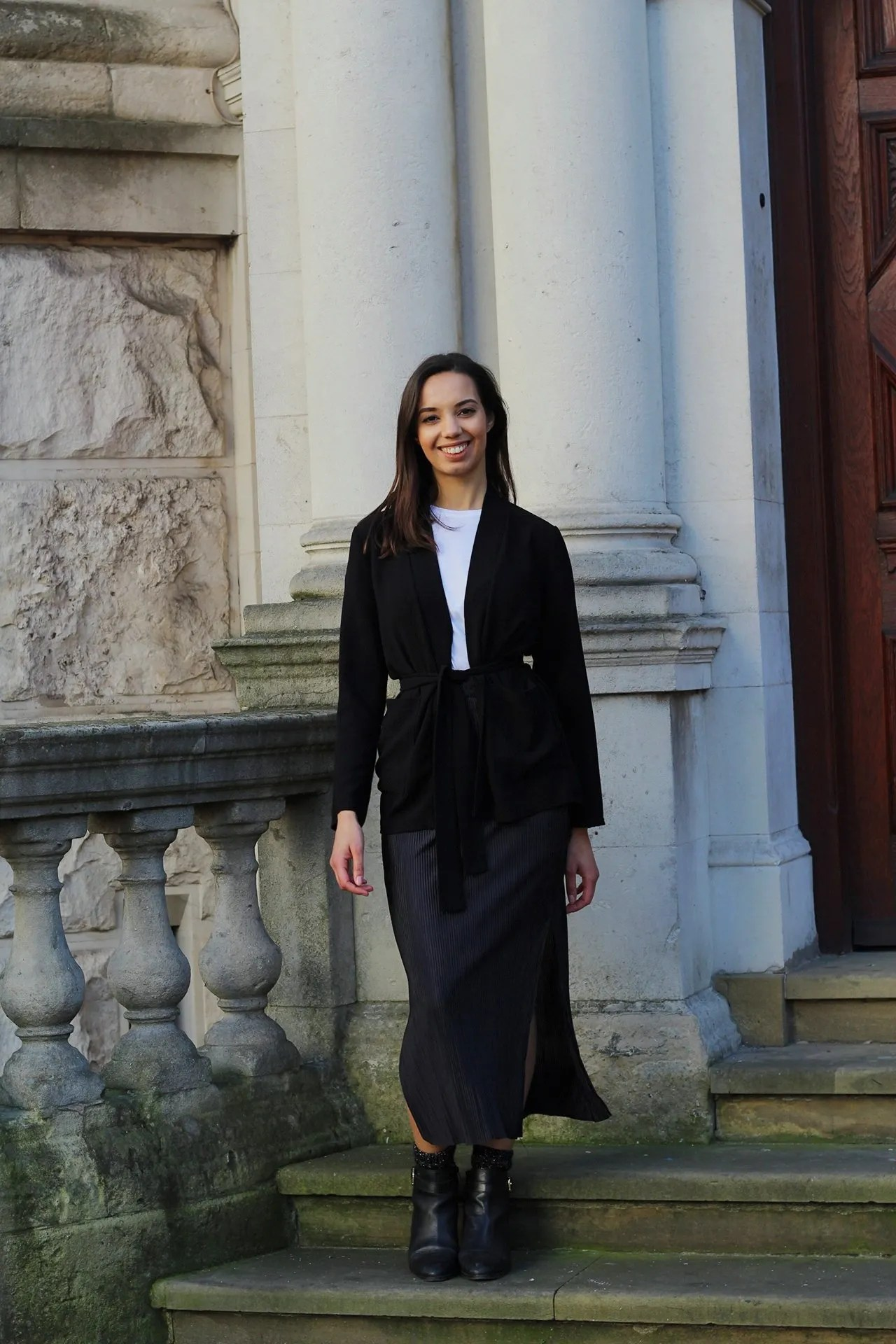 Being beautiful - woman on steps - The Style of Laura Jane