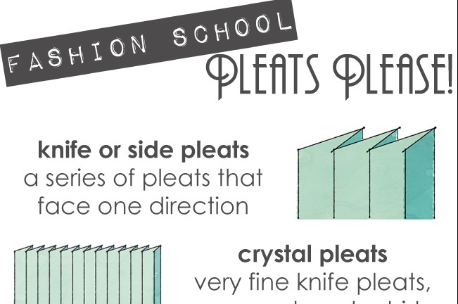 Fashion School: Pleats Please!