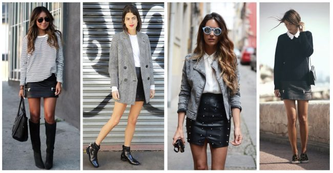 How to wear black leather skirt, closet essentials // thestylesafari.com