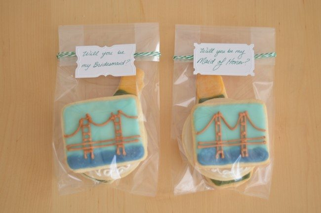 easy cheap bridesmaid gifts, cookies from AlittleSweeter // thestylesafari