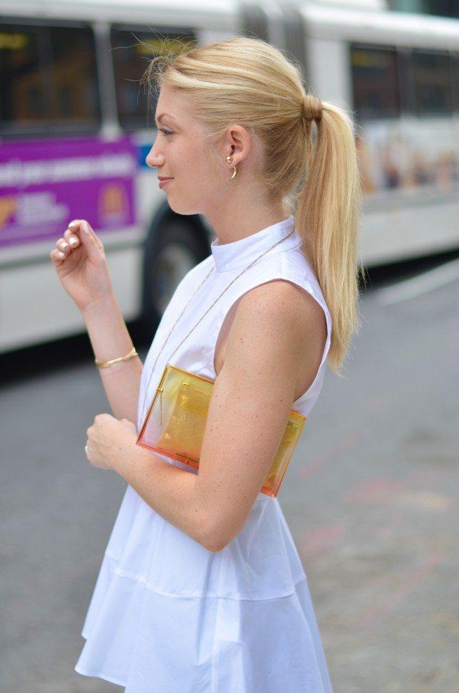 zara white peplum top, charlotte olympia clutch // theStyleSafari.com