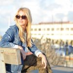 denim jacket, camo jeans, white asymmetrical sweatshirt // thestylesafari.com