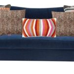 navy blue chesterfield, cheetah and tribal pillow styling // thestylesafari.com