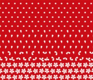 red dot to flower ombre fabric print // thestylesafari.com