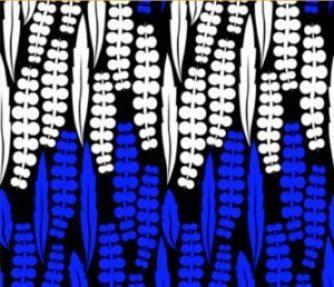 blue black wisteria silhouette print // thestylesafari.com