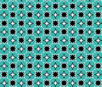 teal black moroccan 8 point star print fabric // thestylesafari.com