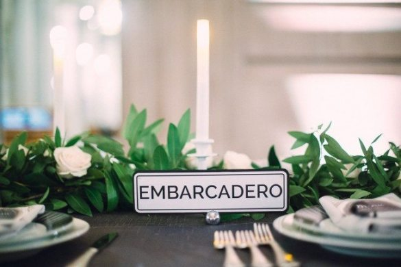 san francisco street names wedding table decor // thestylesafari.com