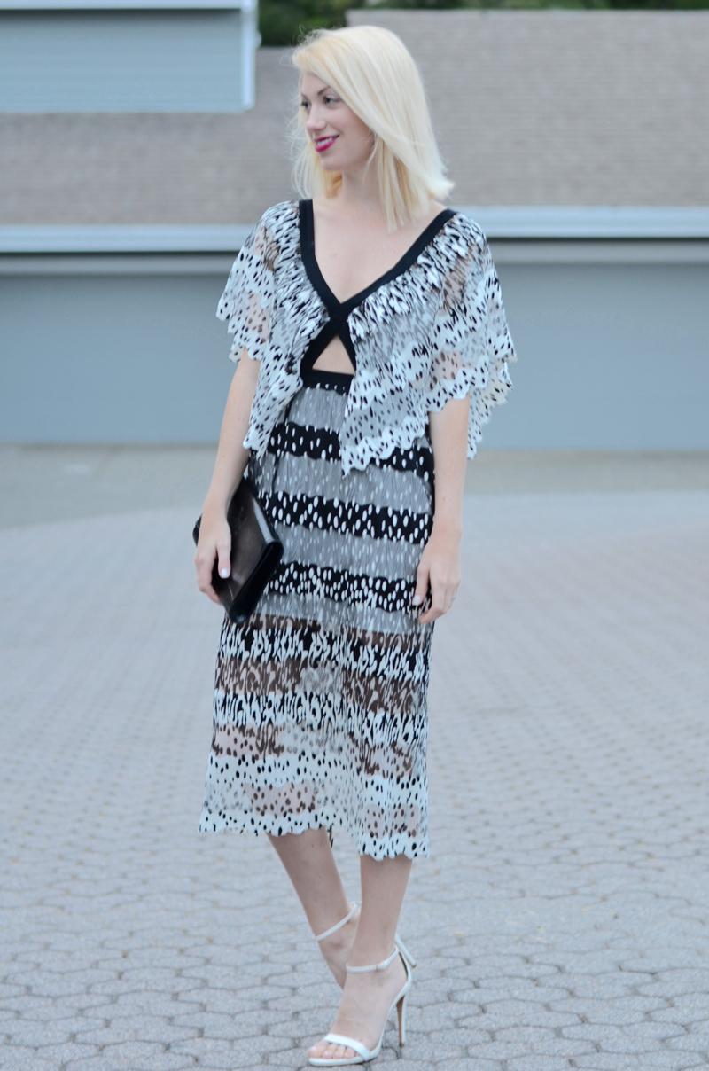 black and white abstract dot ASOS dress // thestylesafari.com