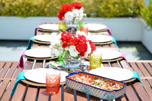 mexican otomi print for cinco de mayo party // thestylesafari.com