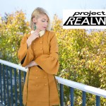 Stefanie makes her second project for Project RealWay challenge, mustard yellow coat dress for the everyday woman // thestylesafari.com
