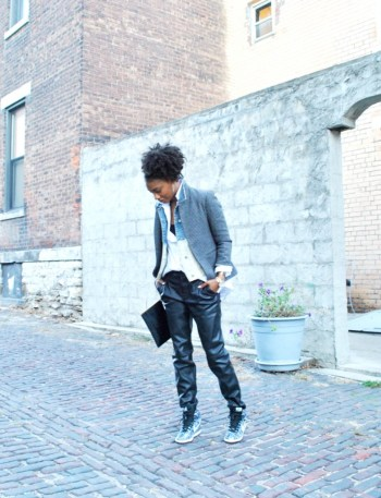 fashion stylist blog - leather pants layers