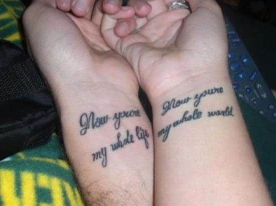 couples-tattoos-now-youre-my-whole-life-my-whole-world