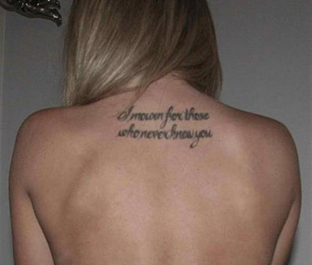 Tattoo Quotes I Mourn For Those Who Never