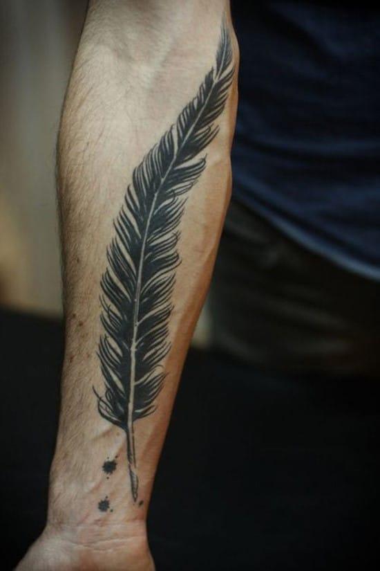 15-Big-Black-Feather-Tattoo