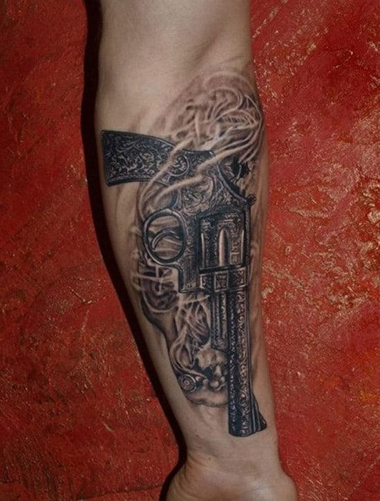 46-Gun-Forearm-Tattoo